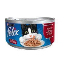 Lata Trocitos De Pollo Alimento Húmedo Para gato Felix 156 g. 0574