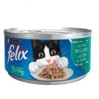 Lata Paté De Pescado Alimento Húmedo Para gato Felix 156 g. 0635